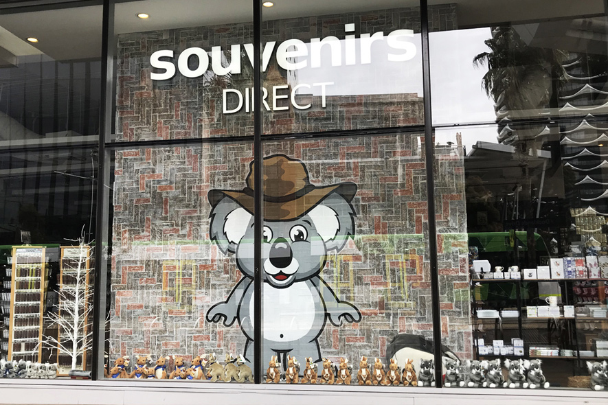 Docklands Melbourne Store window koala