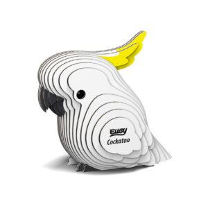 3D cardboard model cockatoo