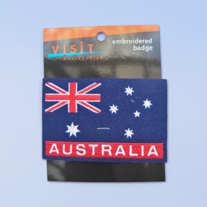 Australian flag embroidered patch