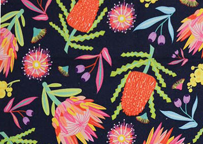 Aussie flora patterned fabric