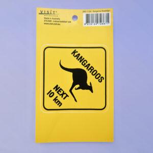 Kangaroo Road sign sticker