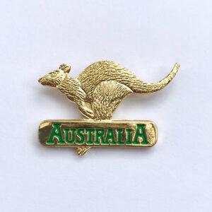 Golden Kangaroo hat pin