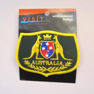 Kangaroo shield embroidered badge