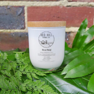 Red hill small natural soy wax candle. Its aroma is Stress Relief