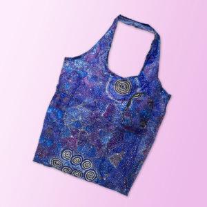 Foldable shopping tote featuring Alma Granites artwork