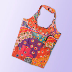 Foldable shopping tote featuring Ruth Stewarts artwork