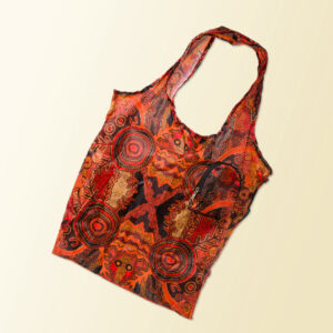Foldable shopping tote featuring Theo Hudsons artwork