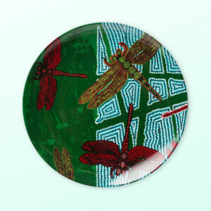 Sheryl Burchill Dragonfly small porcelain plate