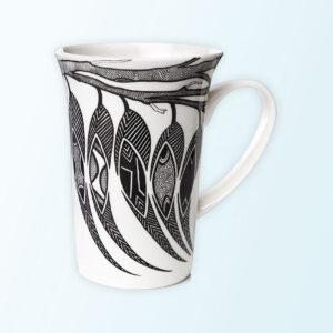 Dancing Wombat porcelain mug