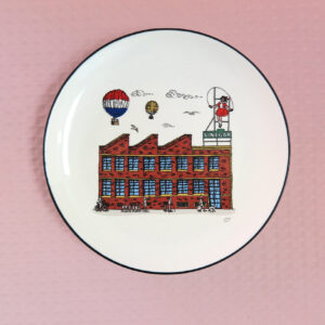 Skipping Girl design porcelain canape plate by Squidinki