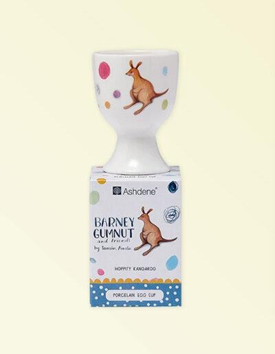Barney Gumnut china egg cup and presentation box. Hoppity Kangaroo is on this egg cup.