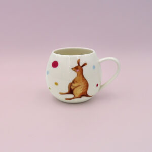 Barney Gumnut china mug. Hoppity Kangaroo is on this mug.