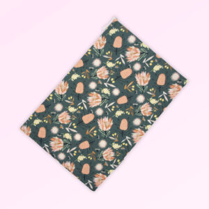 Travel laundry bag with the Aussie Flora design fabric in khaki