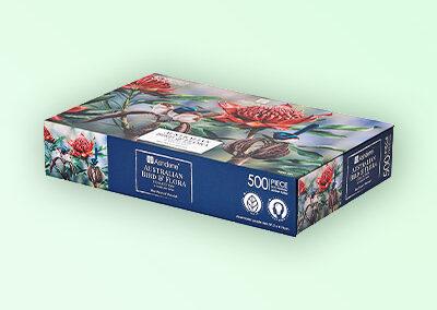 Blue wren jigsaw puzzle box