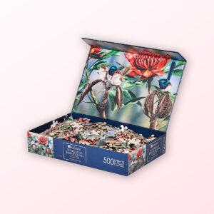 Blue wren jigsaw puzzle
