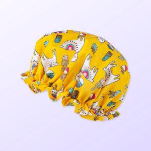 Llama design shower cap