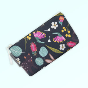 Small cosmetic bag with the fabric design of Australian nocturnal animals