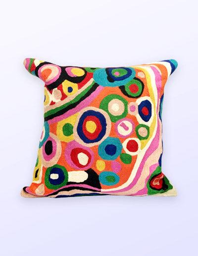 Better World Arts Wool cushion. Design by Andrea Adamson