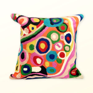 Better World Arts Wool cushion 30cm. Design by Andrea Adamson