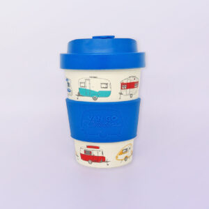 Bamboo travel mug in blue