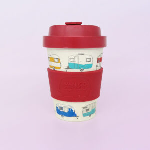 Bamboo travel mug in red