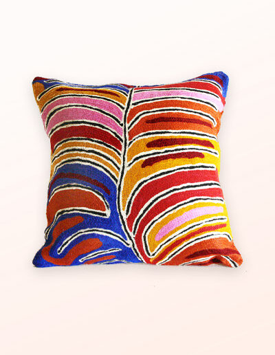 Better World Arts Wool cushion 30cm. Design by Betsy Napangardi Lewis