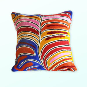 Better World Arts Wool cushion 30cm. Design by Betsy Napangardi Lewis