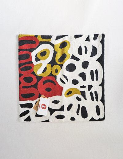 Better World Arts Wool cushion 40cm. Design by Anmanari Brown