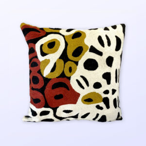 Better World Arts Wool cushion 40cm. Design by Anmanari Brown