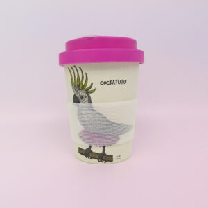 Cockatoo & kookaburra Eco bamboo keep cup
