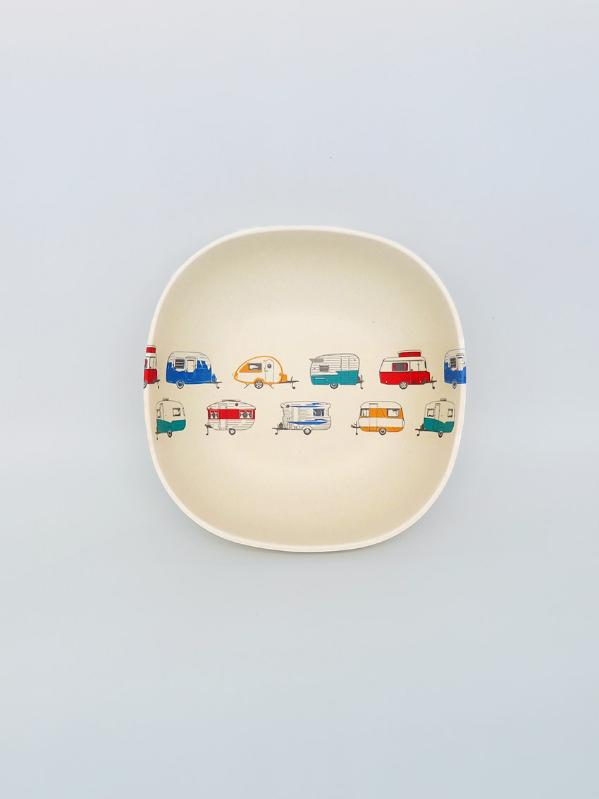 Coloured caravans bamboo Cereal Bowl
