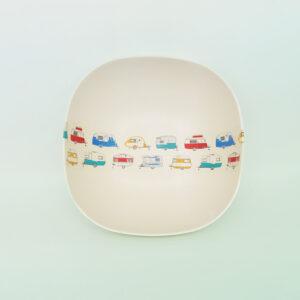 Coloured caravans bamboo Salad Bowl