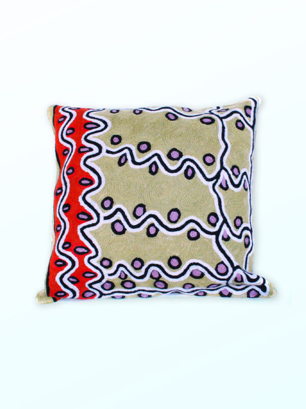 Better World Arts Wool cushion 40cm. Design by Rama Kaltu Kaltu Sampson