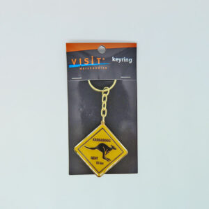 Kangaroo Road Sign Keyring