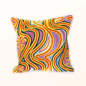 Better World Arts Wool cushion 30cm. Design by Liddy Napanangka Walker