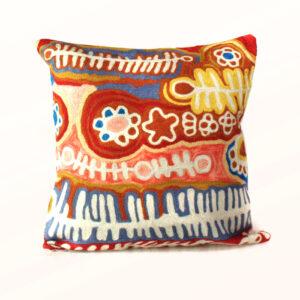 Better World Arts Wool cushion 30cm. Design by Murdie Nampijinpa Morris