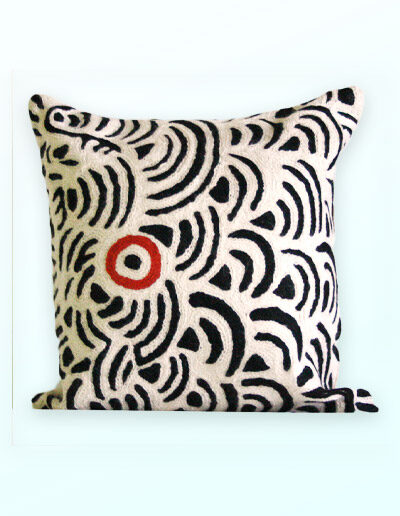 Better World Arts Wool cushion 30cm. Design by Nelly Patterson