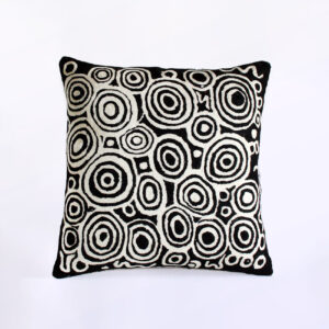 Better World Arts Wool cushion 40cm. Design by Nelly Patterson