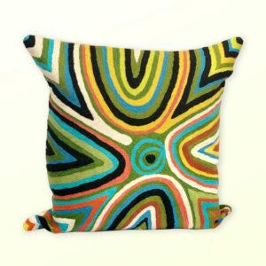 Better World Arts Wool cushion 30cm. Design by Rama Kaltu Kaltu Sampson
