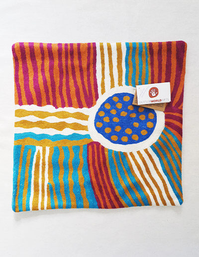 Better World Arts Wool cushion 40cm. Design by Sarah Lane