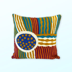 Better World Arts Wool cushion 40cm. Design by Sarah Lane