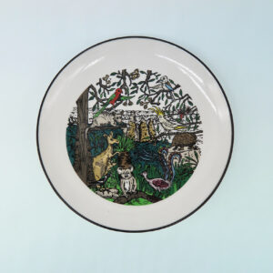 Squidinki Wildlife canape plate