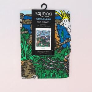 Squidinki Wildlife tea towel in its packet