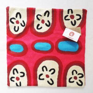 Better World Arts Wool cushion 40cm. Design by Yaritji Heffernan