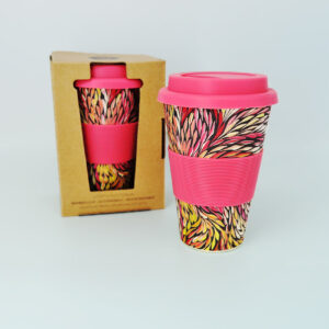 Bamboo travel mug by Sacha Long with gift box