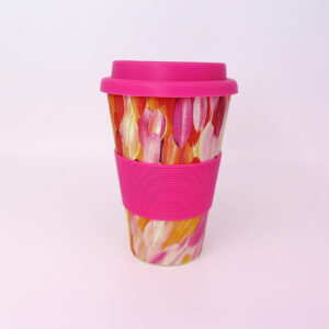 Bamboo travel mug by Gloria Petyarre