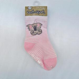 Earth Nymph baby socks pink