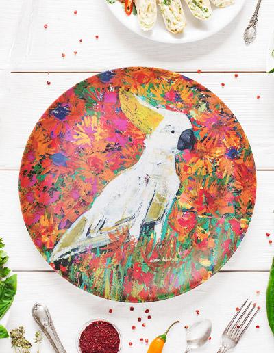 Cockatoo plate