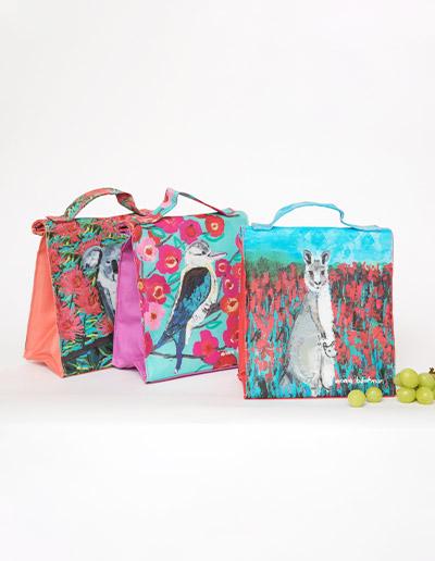 Koala, Kookaburra and kangaroo lunch bag