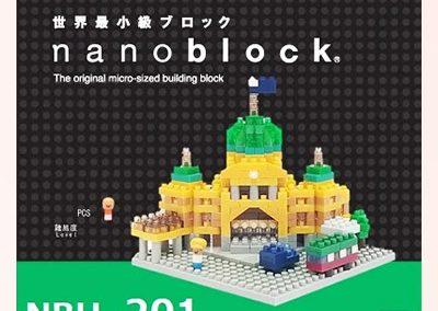Flinders Street Station Nanoblock model box